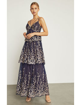 Floral Blooms Embroidered Gown by Bcbgmaxazria