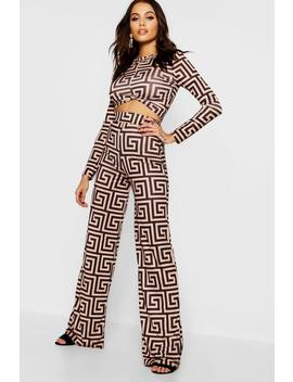 Bold Geo Print Tailored Co Ord Trousers by Boohoo