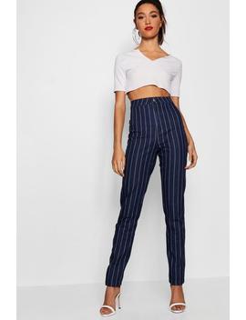 "Tall Pinstripe 36"""""""" Leg Skinny Jeans by Boohoo"