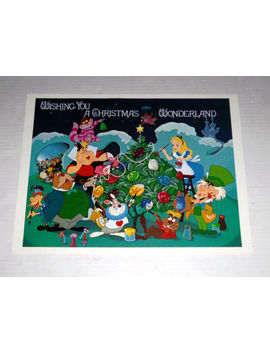 Wdw Christmas Art Alice In Wonderland Eyes & Ears Disney Cast Newspaper 1986 by Walt Disney World
