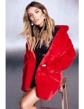 Premium Faux Fur Coat by Boohoo
