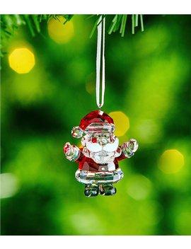 Crystal Santa Claus Ornament by Swarovski