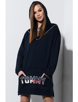 Tommy Hilfiger Velour Trimmed Sweatshirt by Akira