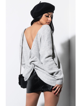 Wrap Me Up Open Back Sweater by Akira