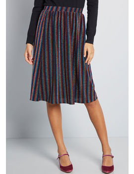 Pleasant Emphasis Striped Skirt by Modcloth