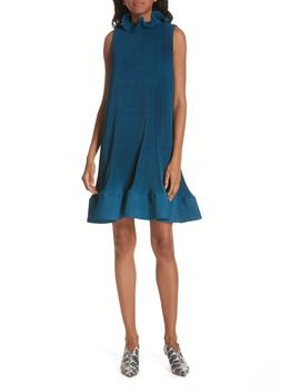 Pleating Sculptured Sleeveless Dress by Tibi