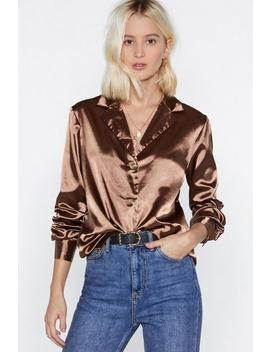 Go All Night Satin Button Up Top by Nasty Gal