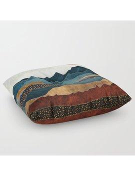 Amber Dusk Floor Pillow by