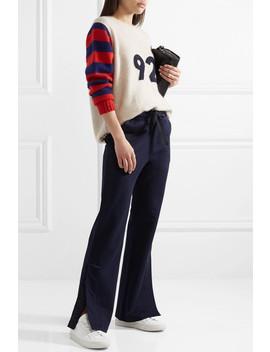 Cotton Jersey Wide Leg Pants by Moncler