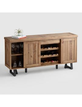 Reclaimed Pine Wood Alain Cabinet With Wine Storage by World Market