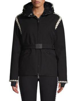 Bourget Scalloped Trim Ski Jacket by Moncler