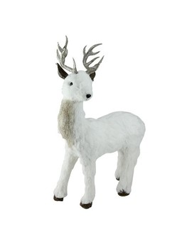 """Northlight 20"""" White And Gold Standing Deer Table Top Decoration by Northlight"""