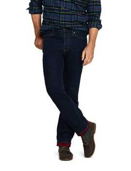 Men's Traditional Fit Flannel Lined Jeans by Lands' End
