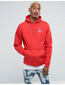 Nike   Club   804346 657   Hoodie à Enfiler Avec Logo Virgule   Rouge by Nike