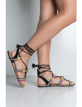 Wrap Me Up Summer Festival Sandals by Akira