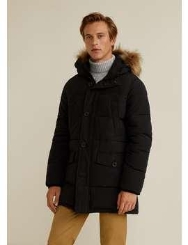Detachabled Faux Fur Hood Anorak by Mango