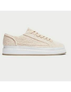 Nwt! Zara Faux Fur Platform Sneakers Cream/WhiteNwt by Zara