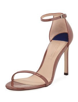 Nudistsong Patent Strappy Sandals by Stuart Weitzman
