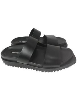 Black Vachetta Nero Sandals by Ann Demeulemeester