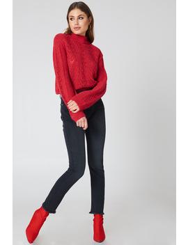 Two Tone Pocket Raw Hem Jeans by Na Kd Trend