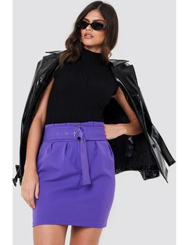 Belted Highwaist Mini Skirt by Trendyol