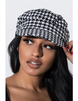 Boss Working Houndstooth Hat by Akira