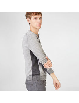 Plaited Block Henley by Club Monaco