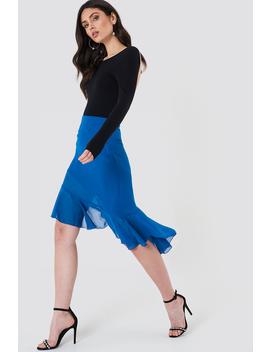 Asymmetric Ruffle Chiffon Skirt by Na Kd