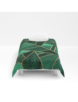 Emerald And Copper Comforters by
