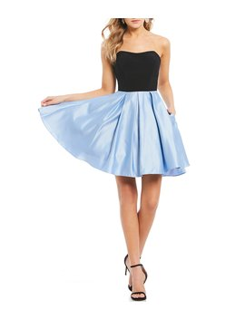 Strappy Sides Color Blocked Dress by Blondie Nites