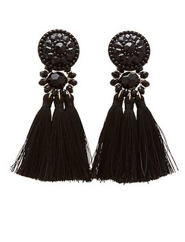 stone-&-fringe-tassel-earrings by charlotte-russe