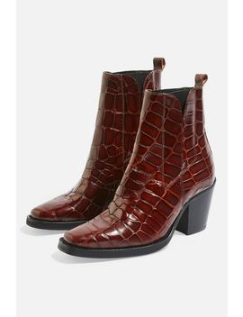 Mason Chelsea Mid Heel Ankle Boots by Topshop