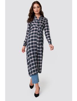 Buttoned Asymmetric Shirt Dress by Na Kd