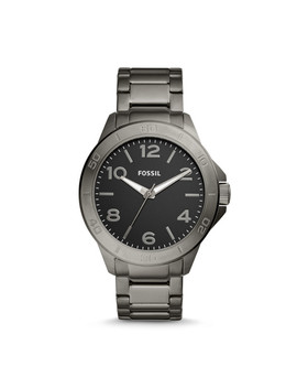 Modern Century Three Hand Smoke Stainless Steel Watch by Fossil