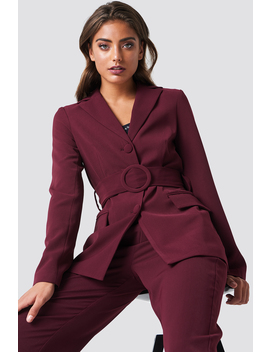Wide Belted Blazer by Na Kd Classic