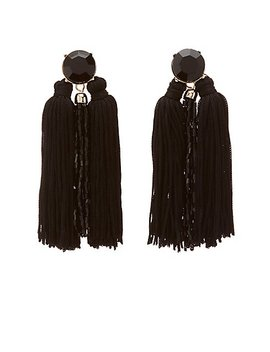 Bead & Fringe Drop Earrings by Charlotte Russe