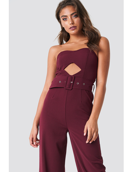 Bandeau Top Belted Jumpsuit by Na Kd Trend