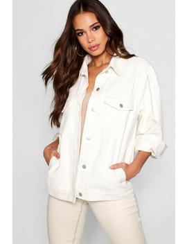 Tall Oversized Cord Jacket by Boohoo