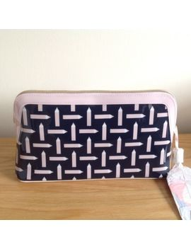 Ted Baker Colour By Numbers Pencil Print Large Washbag 'marble' In Navy by Ebay Seller