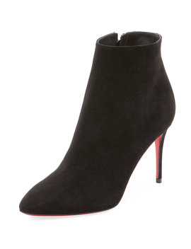 Eloise Suede Red Sole Booties by Christian Louboutin