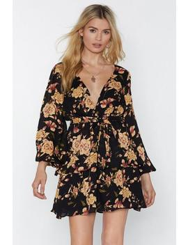 Head To The Dance Floral Mini Dress by Nasty Gal