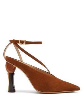 Faya Suede Pumps by Jacquemus