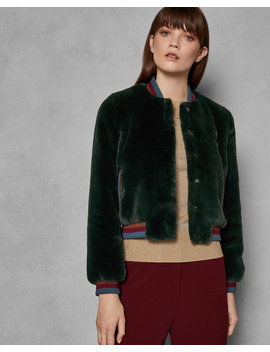 Faux Fur Bomber Jacket by Ted Baker