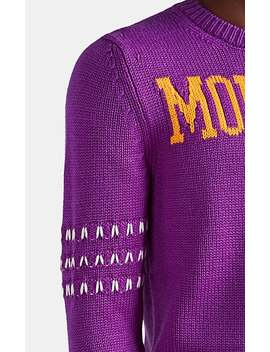 Logo Knit Wool Sweater by 2 Moncler 1952