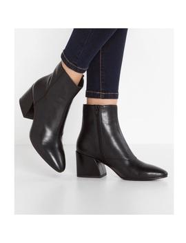 Vagabond Olive Black Leather Ankle Boots 8 by Vagabond