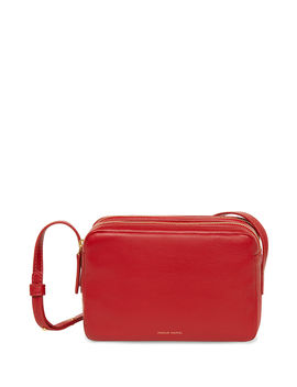 Double Zip Leather Crossbody Bag by Mansur Gavriel