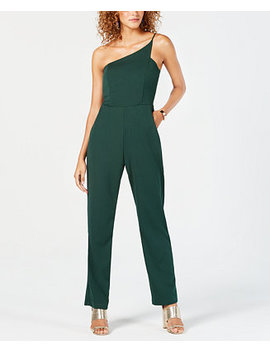 Junior's Asymmetrical One Shoulder Jumpsuit by Teeze Me