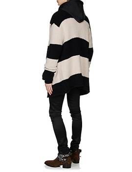 Reversible Cotton & Silk Oversized Hoodie by Amiri
