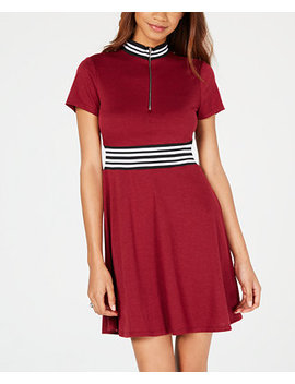 Juniors' Varsity Stripe Fit & Flare Dress by Be Bop