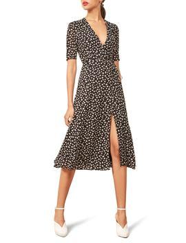 Mona Wrap Midi Dress by Reformation